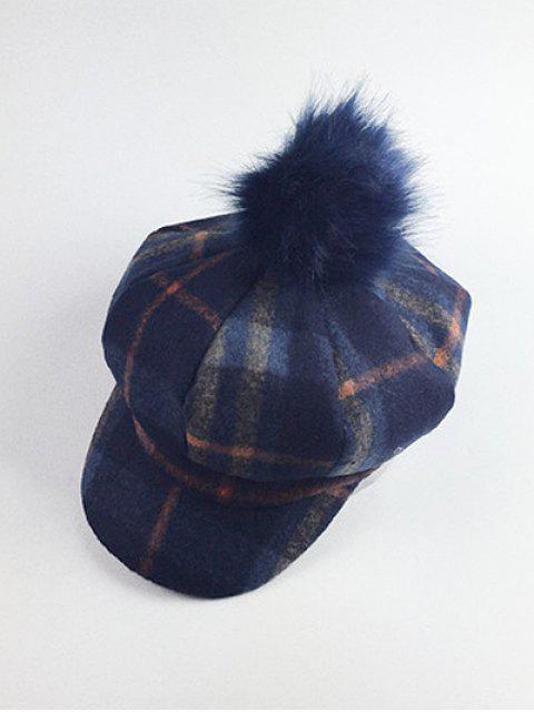shops Pom Ball Embellished Newsboy Hat - CADETBLUE  Mobile