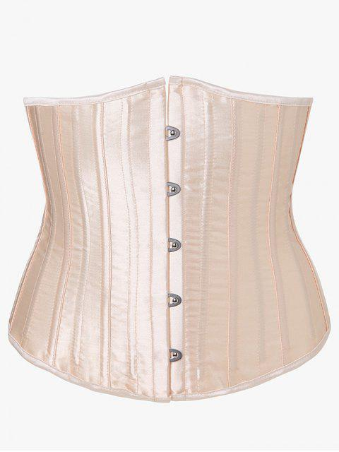fashion Lace Up Strapless Corset - APRICOT XS Mobile