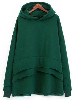 Capas De Material De Abrigo Con Capucha - Verde