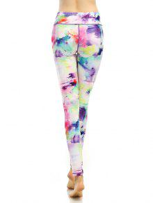f000c77d704a37 26% OFF] 2019 Breathable Multicolor Printed Stretchy Leggings In ...