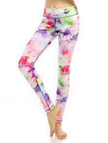 c49a00f8a51a89 Breathable Multicolor Printed Stretchy Leggings; Breathable Multicolor  Printed Stretchy Leggings ...