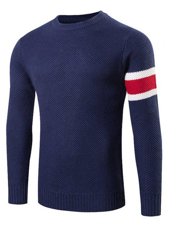 Stripes pattern maglia girocollo Maglione - Cadetblue XL