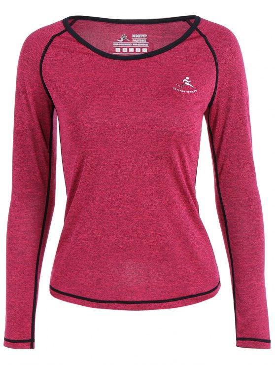 outfits Heather Quick Dry Pullover Gym Tee - ROSE RED S