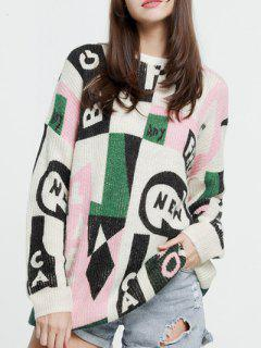 Oversized Graphic Mohair Sweater - Xs