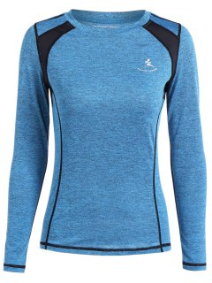 Heather Breathable Pullover Tee - Azure M