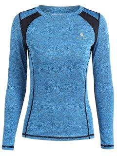 Camiseta Transpirable Del Suéter Del Brezo - Celeste L