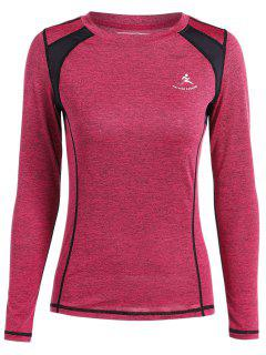 Heather Breathable Pullover Tee - Rose Red S