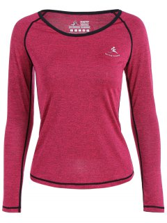 Heather Quick Dry Pullover Gym Tee - Rose Red S