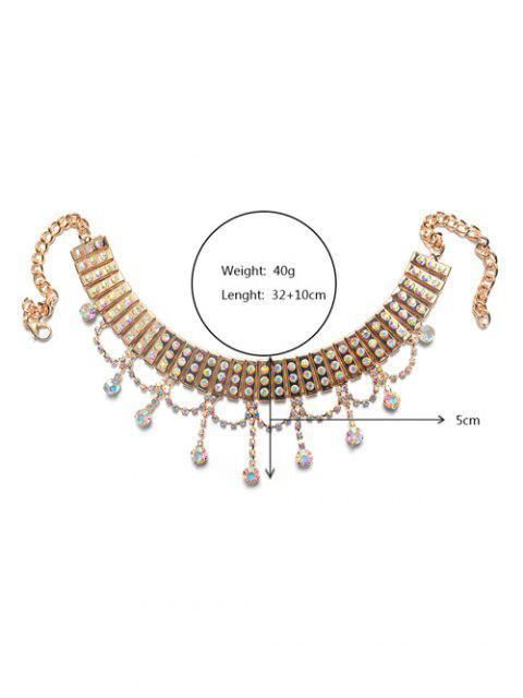 sale Layered Rhinestone Drop Choker Set -   Mobile