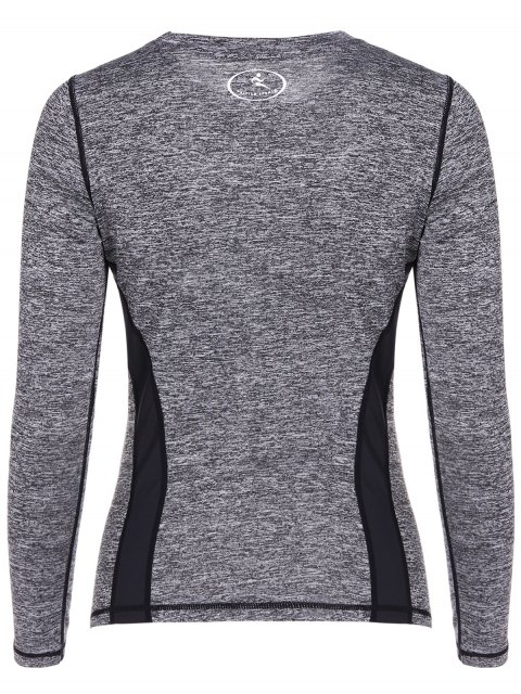 Heather Breathable Pullover T-Shirt - Grau M Mobile