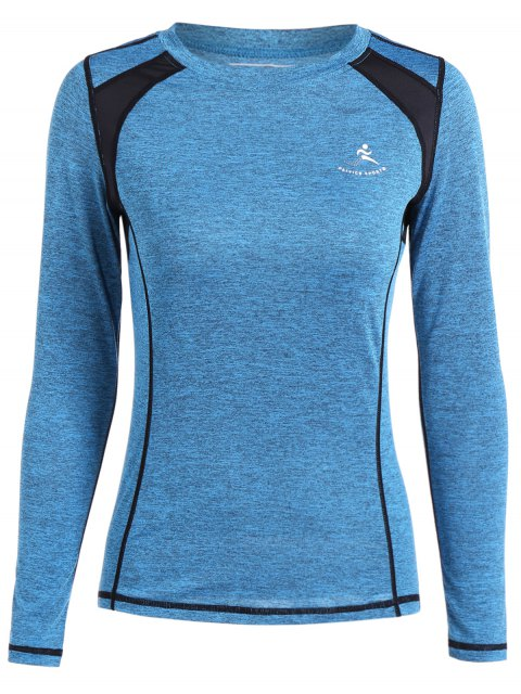 unique Heather Breathable Pullover Tee - AZURE L Mobile