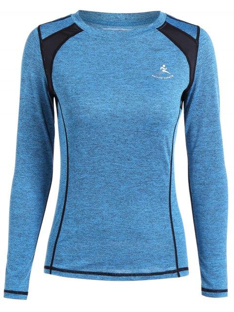 Heather Breathable Pullover T-Shirt - Azurblau L Mobile