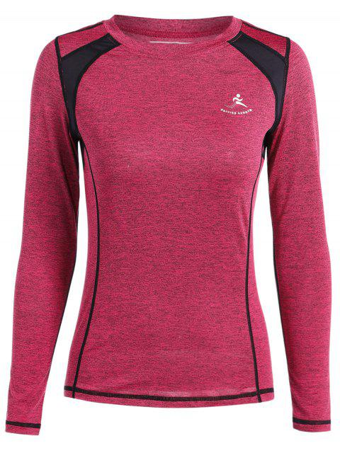 Heather Breathable Pullover T-Shirt - roda rot  S Mobile
