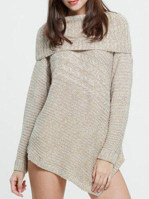 Foldover Chunky Sweater - Complexion S