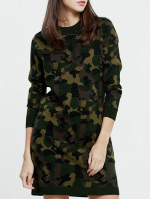 Camoflage Long Sweater - Camouflage