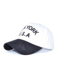 Pana EE.UU. Carta Del Sombrero Del Bordado Del Béisbol - Blanco