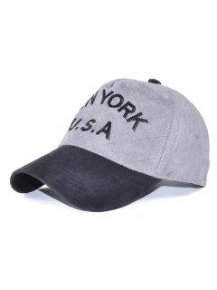 Corduroy USA Letter Embroidery Baseball Hat - Gray
