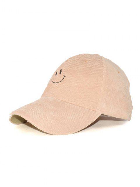 outfit Spring Autumn Embroidery Corduroy Baseball Hat - KHAKI  Mobile