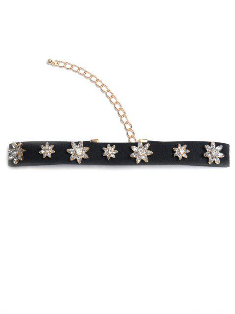 best Concise Floral Rhinestone Choker -   Mobile