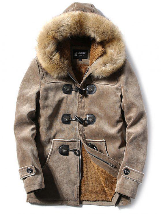 Wildleder mantel khaki