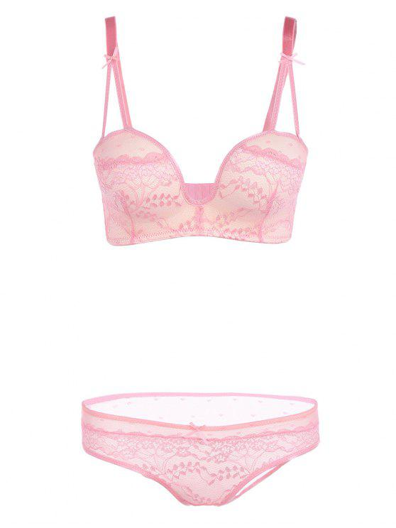ce5d13036efdf 18% OFF  2019 Embroidered Seamless Lace Underwear Bra Panty Set In ...