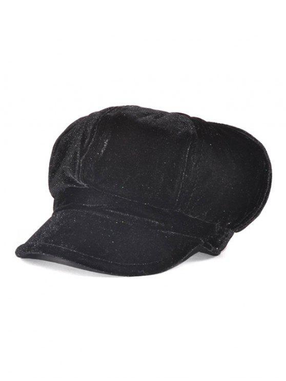 Casquillo ajustable al aire libre suave Pleuche Beret - Negro
