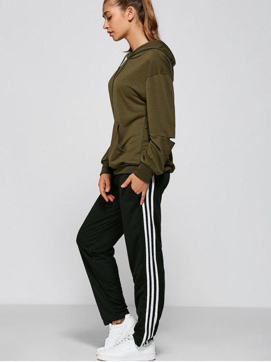 Pantalon Gym noir et blanc à rayures - Noir L