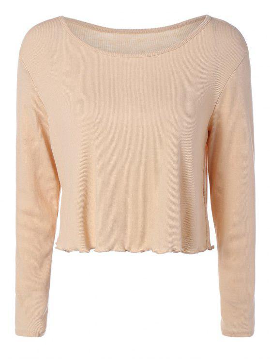 fancy Baggy High-Low T-Shirt - BROWN M