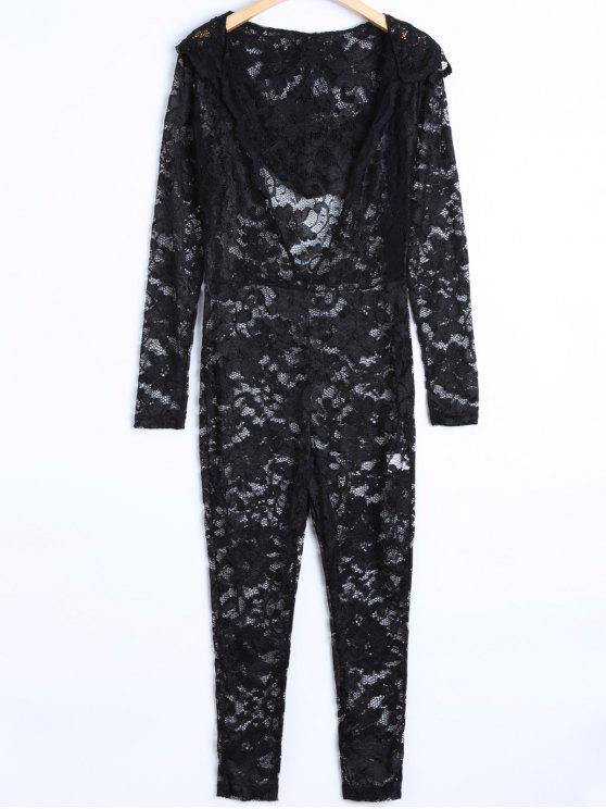 online See-Through Jumpsuit - BLACK L