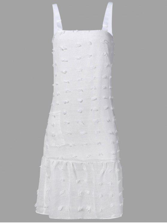 Estéreo vestido correas Midi flor - Blanco L