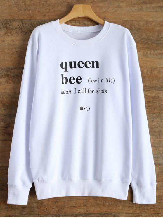 Fitting Buchstaben Sweatshirt - Weiß S