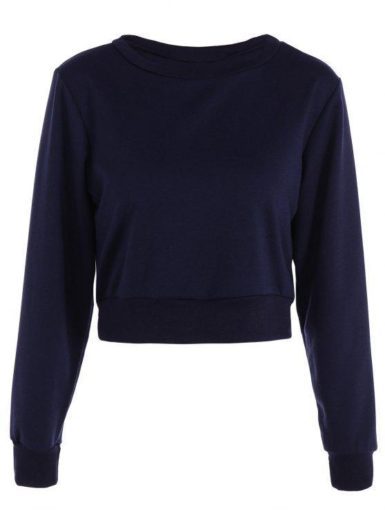 Funsport Geerntetes Sweatshirt - Schwarzblau XS