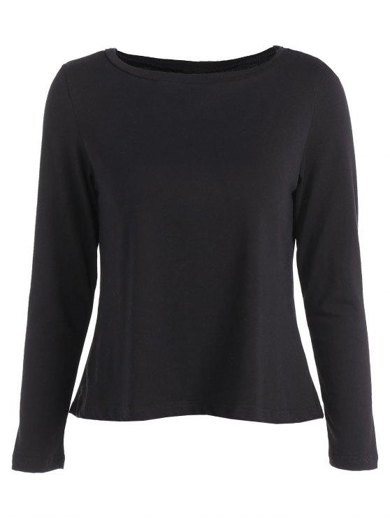 Empalmado cordón de la camiseta - Negro 2XL