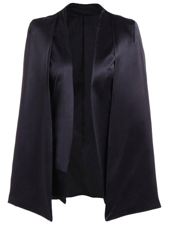 online Collarless Work Cape Blazer - BLACK M
