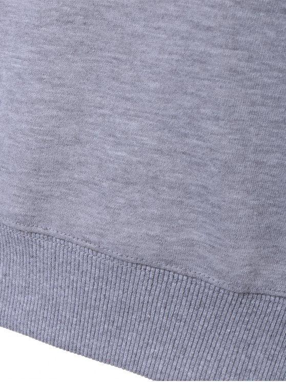 Sweatshirt Imprimé GraphiqueGris L En Lettres oCxBde