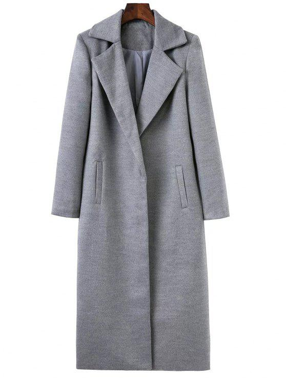 outfit Lapel Oversized Coat - GRAY S