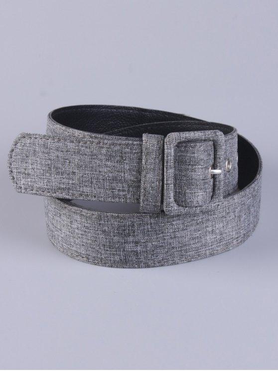 women PU Leather Pin Buckle Belt - GRAY