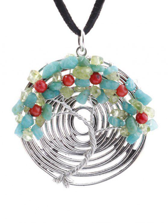 buy Spiral Life Tree Necklace - SILVER