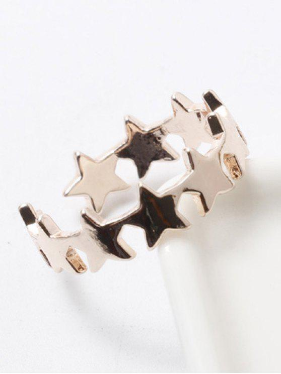 outfits Polished Star Cuff Ring - CHAMPAGNE