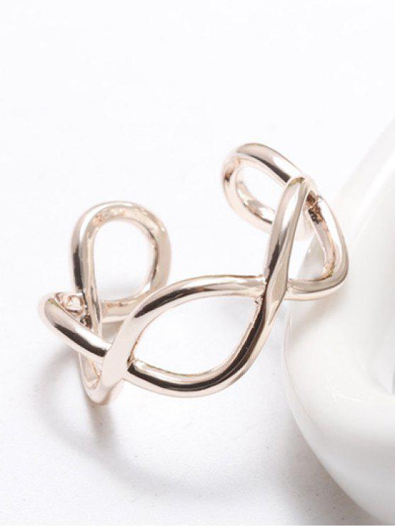 fashion Filigree Infinity Cuff Ring - ROSE GOLD