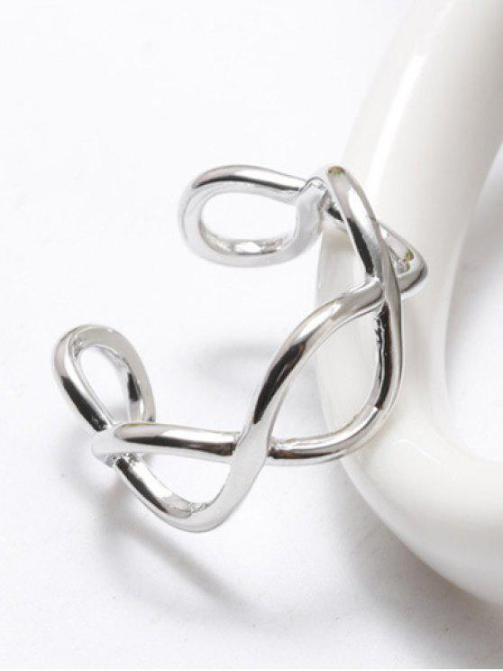chic Filigree Infinity Cuff Ring - WHITE GOLDEN