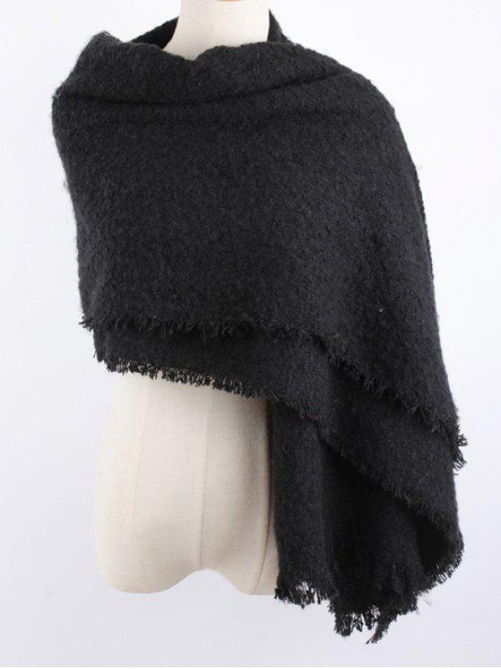 buy Winter Shawl Scarf - BLACK