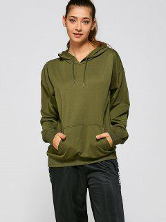Casual Loose Hoodie - Army Green S