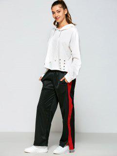 Color Block Furcal Track Pants - Black M