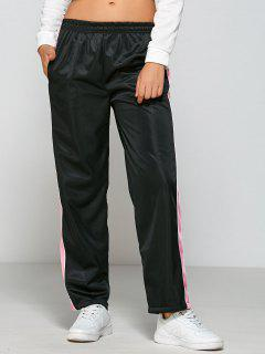 Color Block Gym Pants - Black M