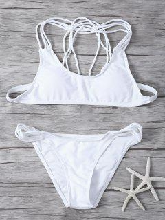 Padded Strappy Bikini - White L
