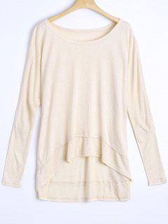 High Low Oversized Tee - Apricot S