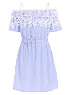 Encolure Preppy Dress - Bleu Et Blanc L