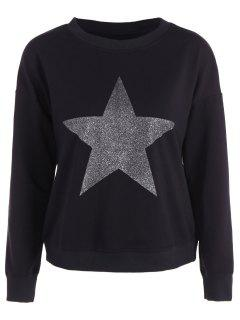 Star Graphic Sweatshirt - Black L