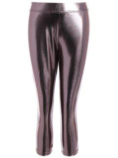 Metallic Color Leggings - Metallic 2xl